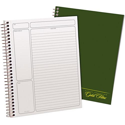 "Ampad Gold Fibre Wirebound Legal Pad, 9-1/2"" x 7-1/4"", White, Green Cover, 84 Sheets"