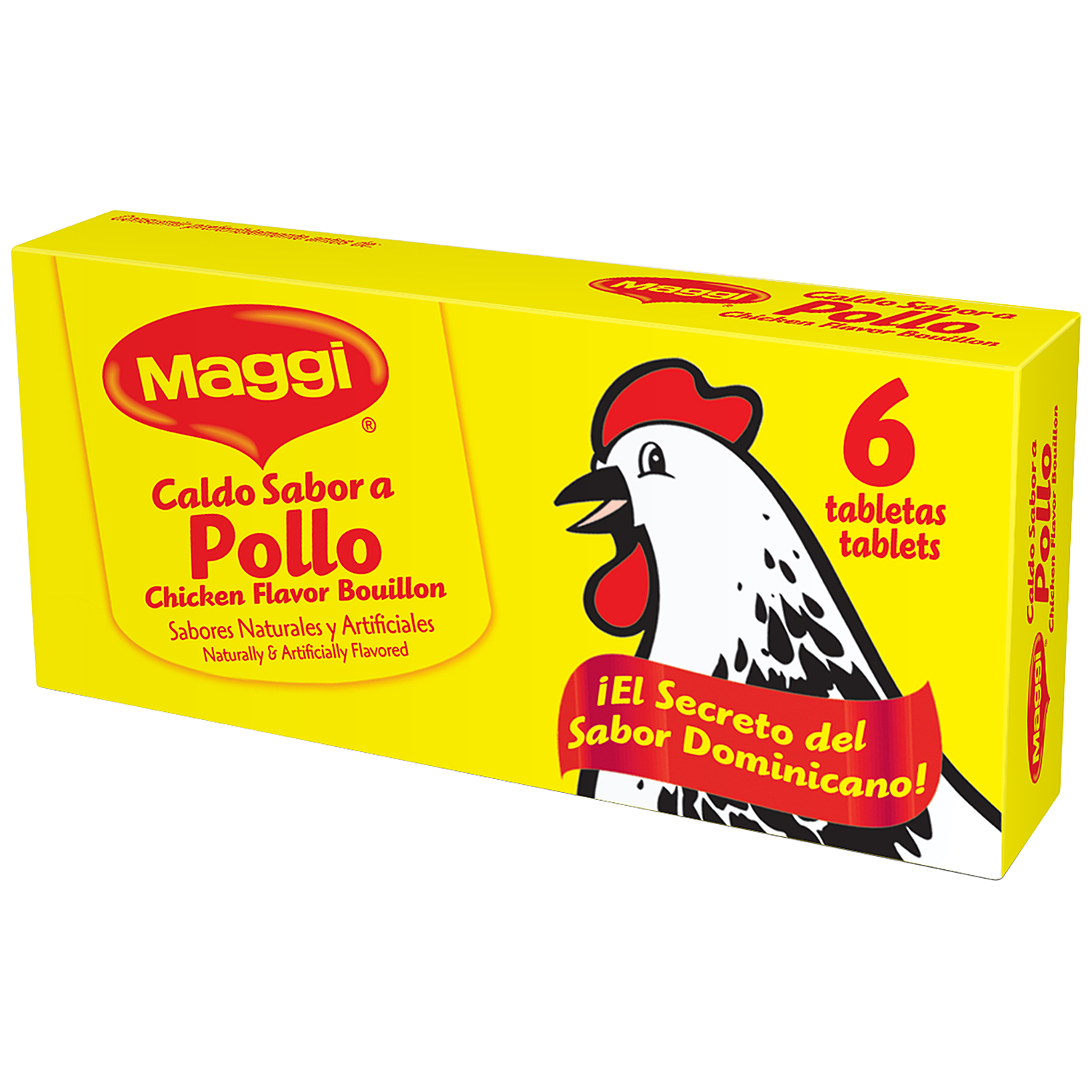 Maggi Chicken Flavor Bouillon Tablets, 6 count, 2.4 oz