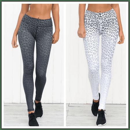 a98358d8056bc6 DYMADE - DYMADE Women's Sexy Leopard Print Sports Leggings ...
