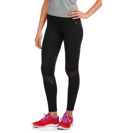 Women's Premium Nylon Performance Ankle Tight with Mesh Insets - Nylon Athletic Pants