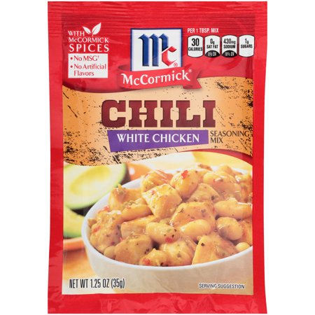 (4 Pack) McCormick White Chicken Chili Seasoning Mix, 1.25 oz