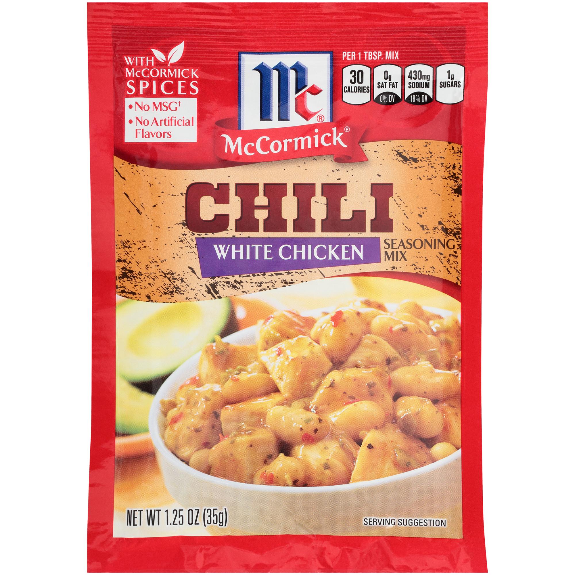 (4 Pack) McCormick White Chicken Chili Seasoning Mix, 1.25 oz