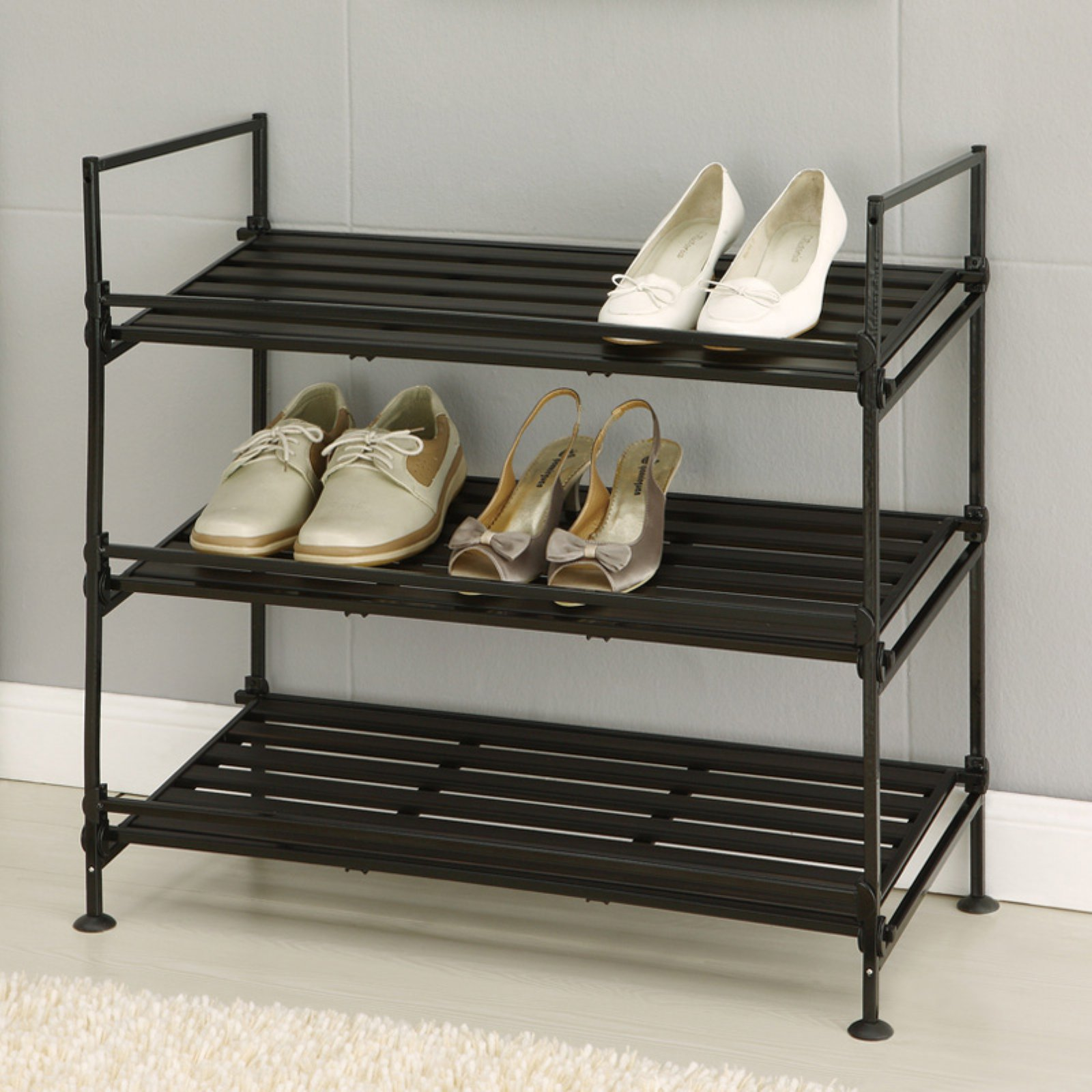 Ebonize 3 Tier Shoe Rack