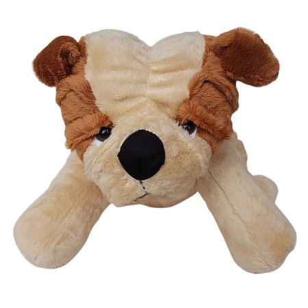 Cuddly Soft 16 inch Stuffed Brown Bulldog - We stuff