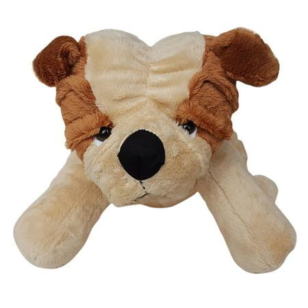 Cuddly Soft 16 inch Stuffed Brown Bulldog - We stuff 'em...you love 'em!
