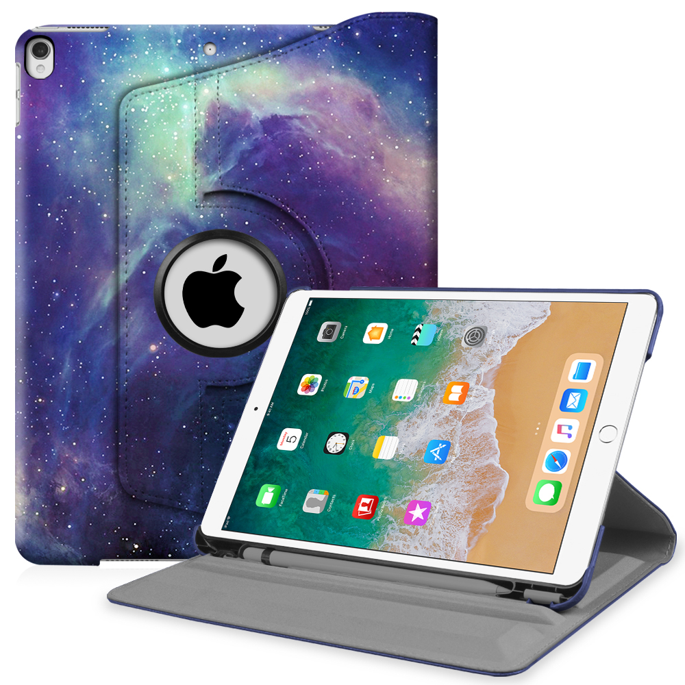 Fintie iPad Pro 10.5 Rotating Case - [Built-in Apple Pencil Holder] 360 Degree Rotating Stand Cover, Galaxy
