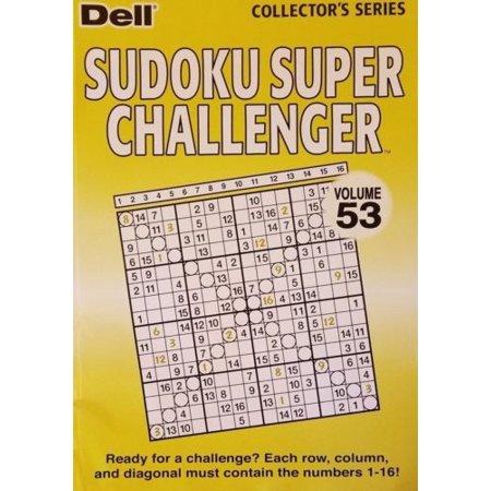1 Dell Sudoku Super Challenger Puzzle Book Vol  53--(53 16x16 grid puzzles)