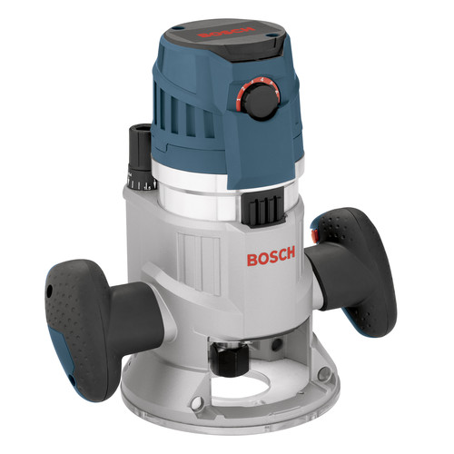 "Bosch MRF23EVS 2.3HP Fixed Base Router 1 2"" & 1 4"" Collets Inc. Mfr. Refurbished by Robert Bosch Tool Corporation"