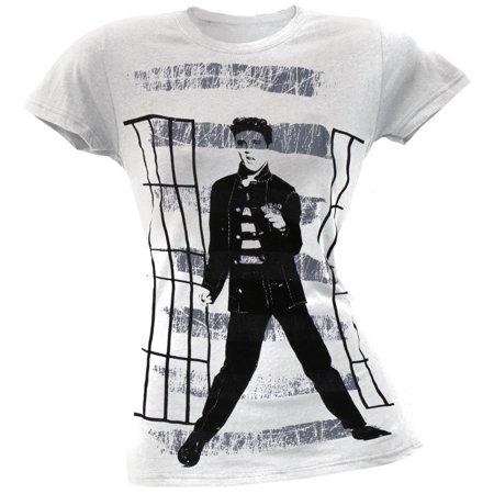 Elvis Presley - Jailhouse Bars Juniors Subway T-Shirt