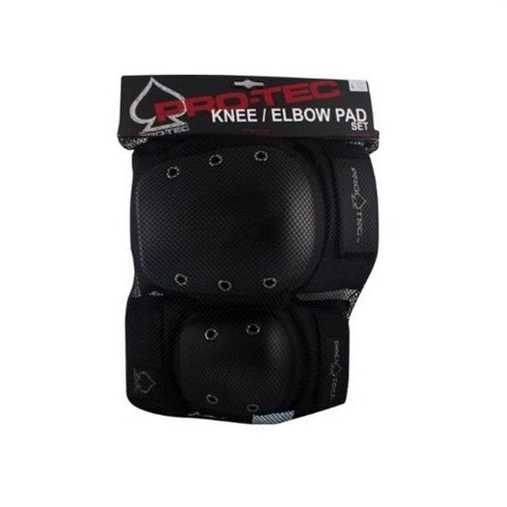 Pro-Tec  Knee/Elbow Pad Set, Black, L