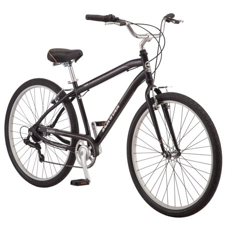 Schwinn Brookline cruiser bike, 27.5 inch wheel, 7 speeds, mens, black (Cruiser Bikes 7 Speed)