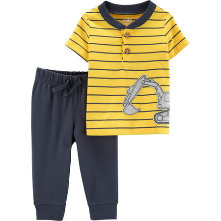 Children Clothing Boutiques (Child of Mine Short Sleeve T-Shirt and Pants, 2 pc set (Toddler)