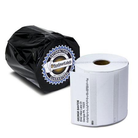 6 Rolls of Dymo 1785353 Compatible High Capacity Address Labels for LabelWriter 4XL Label Printers, 3-1/2 x 1-1/8 inch (1050 Labels Per Roll)