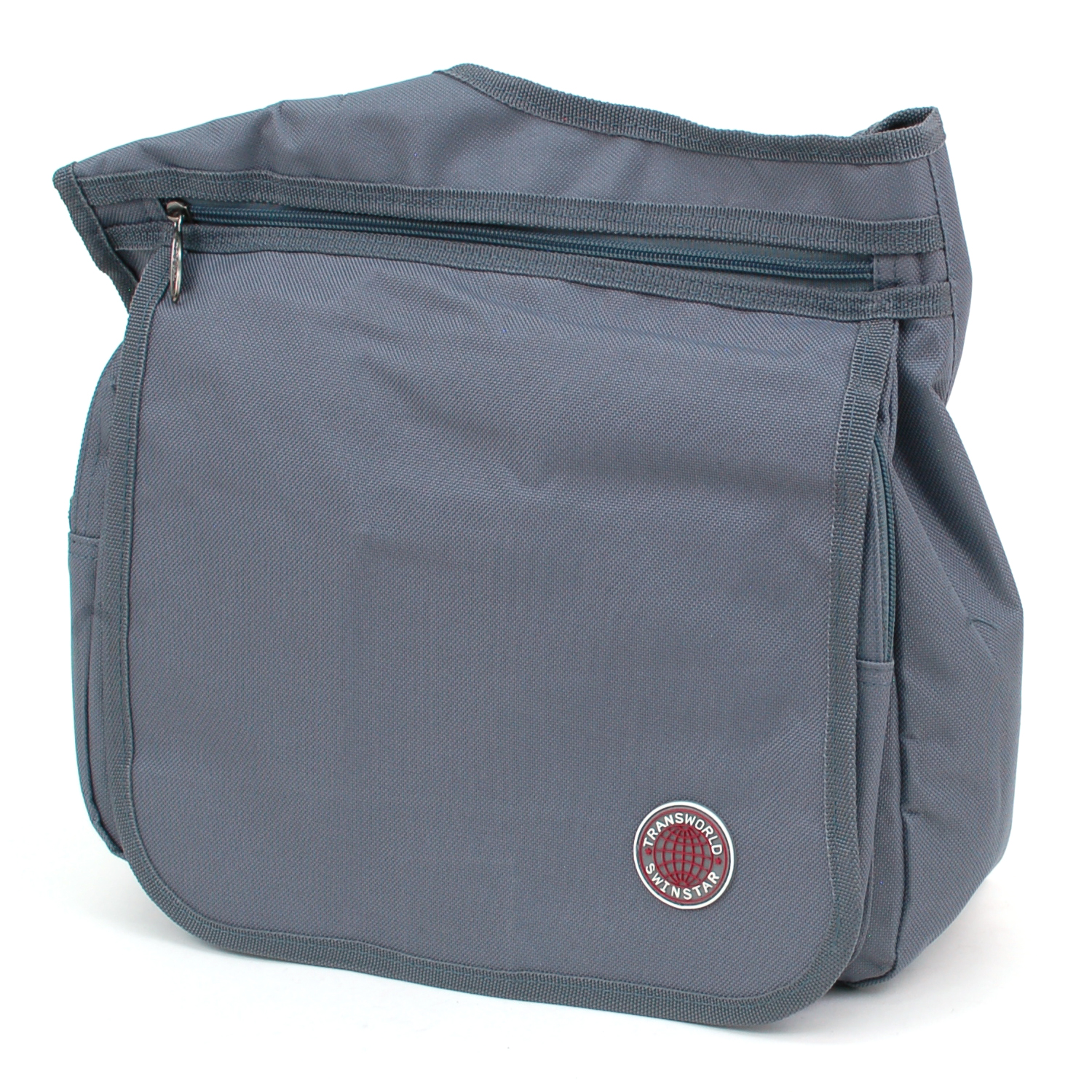 Messenger Bag Cross Body Organizer Briefcase Medium Size Multiple Pockets Purse Gray One Size