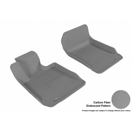 3D MAXpider 2006-2011 BMW 3 Series Sedan (E90)/(E92) Front Row All Weather Floor Liners in Gray with Carbon Fiber Look