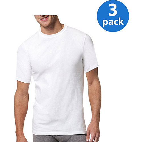 Hanes Men's X-Temp White Crew Neck T-Shirt 3-Pack