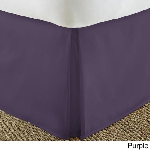 Soft Essentials Premium Pleated Bedskirt Dust Ruffle Twin - Purple