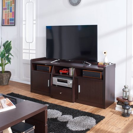 Furniture of America Simco Contemporary Multi-Storage TV Stand for up to 63″, Multiple Colors
