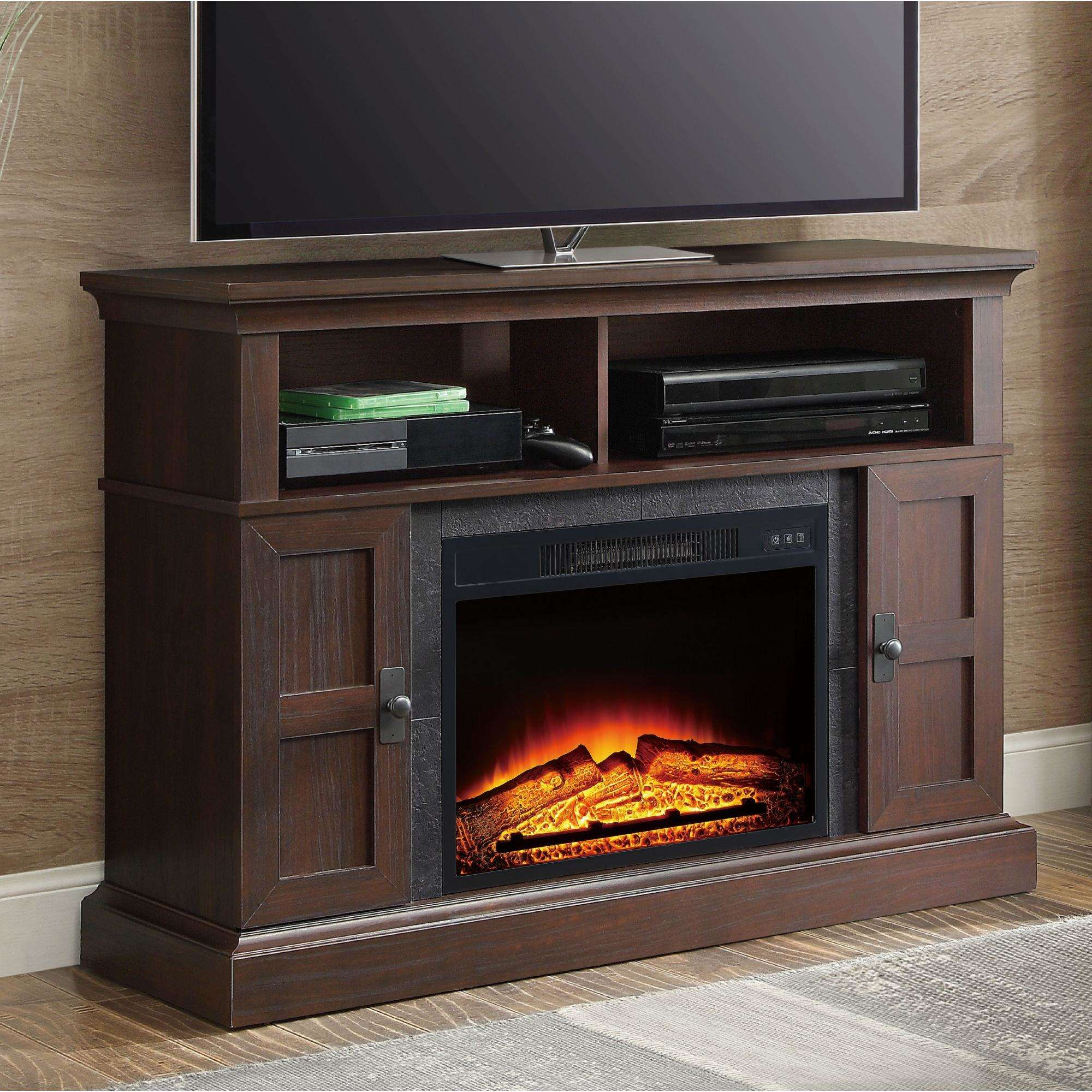 """Whalen Media Fireplace for Your Home, Television Stand fits TVs up to 55"""", Multiple Finishes"""