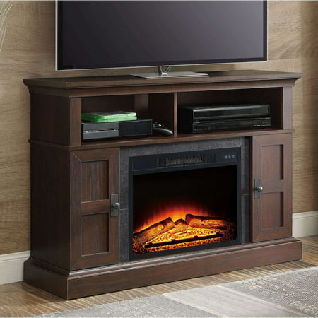 Whalen Media Fireplace Console For Tvs Up To 55   Dark Cherry