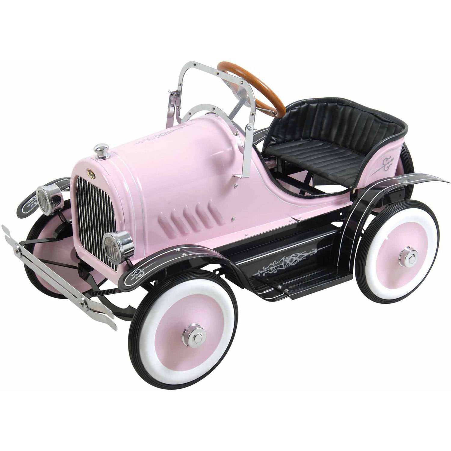 Deluxe Pink Roadster Pedal Car by Big Toy USA
