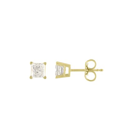 Imperial 1/6Ct TDW Diamond 10K Yellow Gold Solitaire Stud Earrings