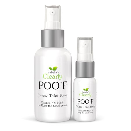 Clearly POO'F, Privacy Toilet Spray with Essential Oil Magic to Keep the Smell Away, Bathroom Odor Eliminator (Set), Zesty Citrus ()
