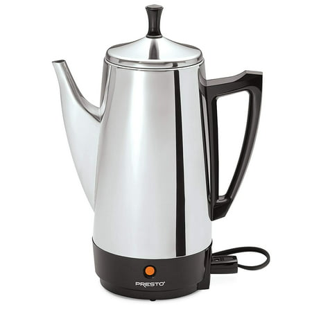 Presto 12-Cup Stainless Steel Coffee Maker (Metal Coffee Pot)