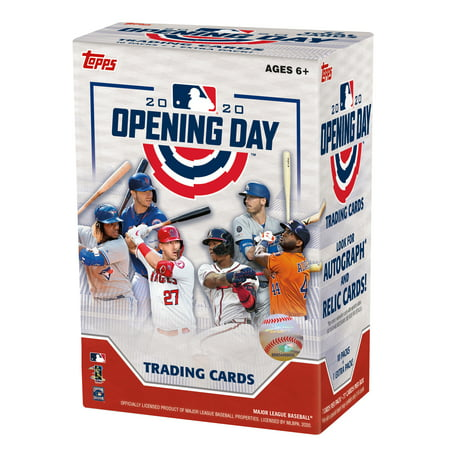 2020 Topps Opening Day MLB Trading Cards Blaster Box- 66 Cards + 11 Insert Cards | Find Rookie & Veteran Autographs Time Autographed Card