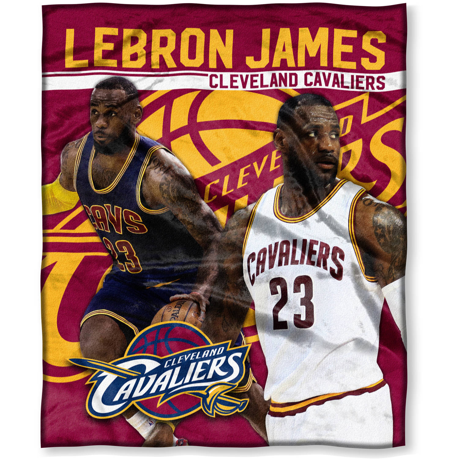 """NBA Lebron James 50"""" x 60"""" Cleveland Cavaliers Players High Definition Silk Touch Throw"""