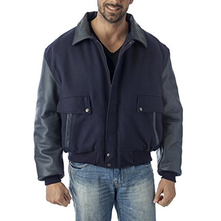 Top Gun Jacket (Reed Men's Leather Top-Gun Varsity Jacket (Medium,)