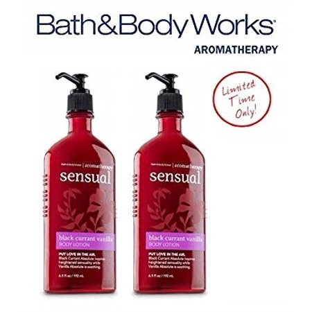 Bath & Body Works Aromatherapy Black Currant Vanilla Body Lotion Twin-pack - 6.5 Oz Apple Vanilla Body Lotion