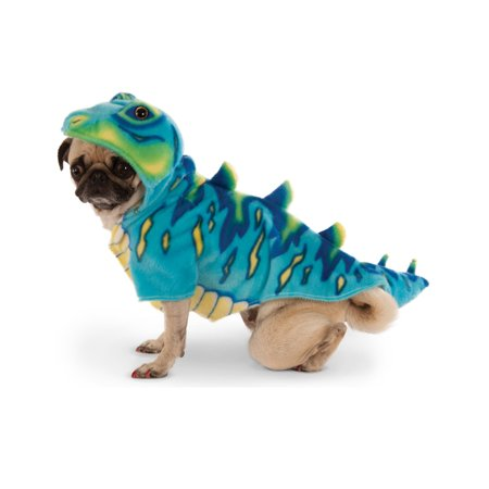 Blue Dinosaur T-Rex Pet Dog Cat Halloween Costume Hoodie Sweater - Halloween Dog Prank