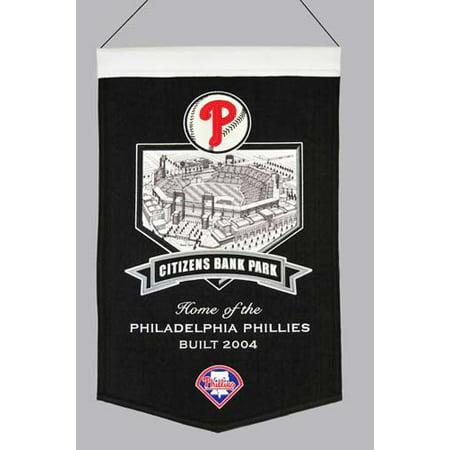 Philadelphia Phillies Wool Stadium Banner   Citizens Bank Pa