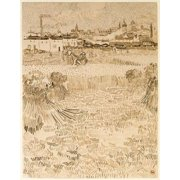 Arles  View from the Wheatfields Poster Print by  Vincent Van Gogh