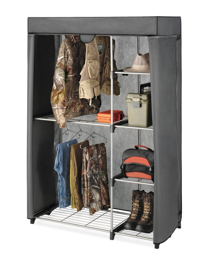 Deluxe Covered Double Hang Utility Closet