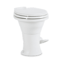 "Dometic 302310031 310 Series Standard Height Toilet 19.75"" Height, Slow Close Wood Seat, White"