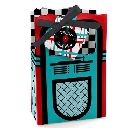 1950s Party Favors (50's Sock Hop - 1950s Rock N Roll Party Favor Boxes - Set of)