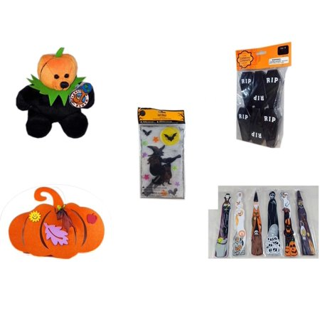 Halloween Fun Gift Bundle [5 Piece] - Jacko The  Beanie Bear Limited Edition Collectible 7