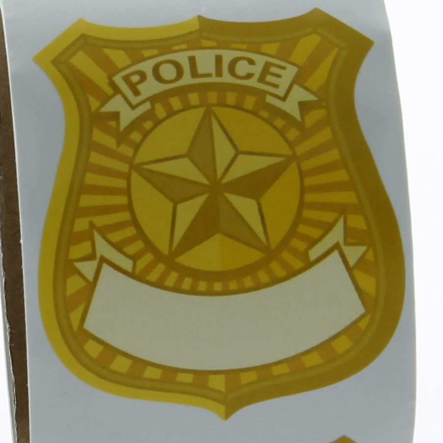 Police Badge Stickers  police Name Tag Stickers police stickers police party favors party favors