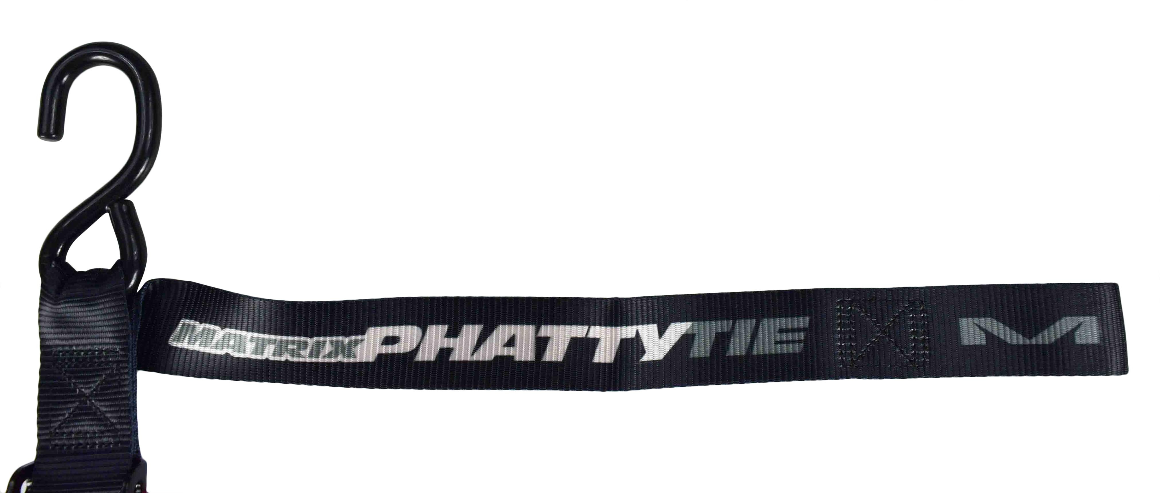 Matrix Concepts M1 Phatty 1.5 Wide Motorcycle Tie-Down Straps Set w Limited Edition 25 Piece Sticker Kit Blue