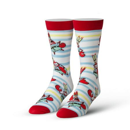 Cool Socks Spongebob & Mr. Krabs Knit Socks, 6-13 - Spongebob Stock