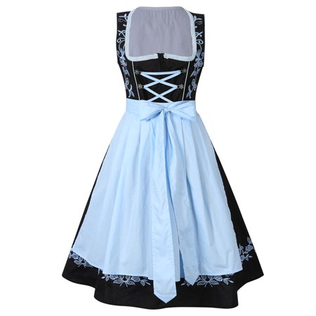 KoJooin Women's German Dirndl Dress 2 Pieces Oktoberfest Costumes