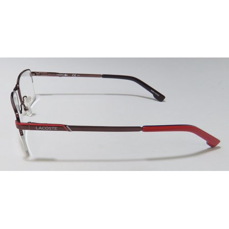 c2bc07ff2799 New Lacoste 2203 Mens Designer Half-Rim Shiny Merlot   Red Gorgeous Half-rim  Durable Stylish Eywear Frame Demo Lenses 54-18-145 Flexible Hinges ...