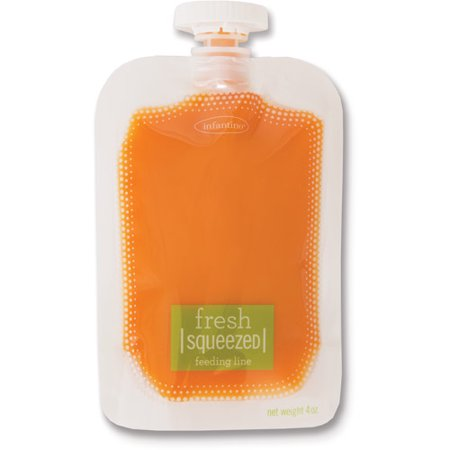 Infantino Fresh Squeezed 50-Pack Squeeze Pouches, BPA-Free