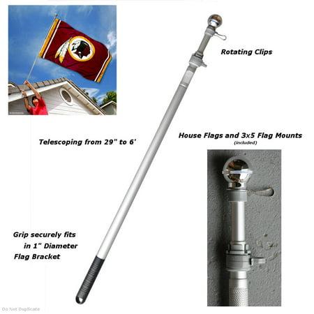 Telescoping 6 Aluminum Flagpole