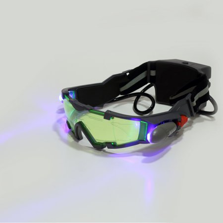 Adjustable Indoor Tanning Goggles For Kids Eyeshield Green Lens Elastic Band Goggles Night Vision