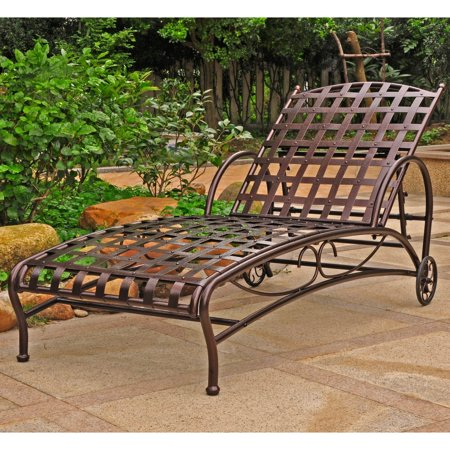 International Caravan Lounge (International Caravan Santa Fe Iron Multi Position Single Outdoor Chaise Lounge )
