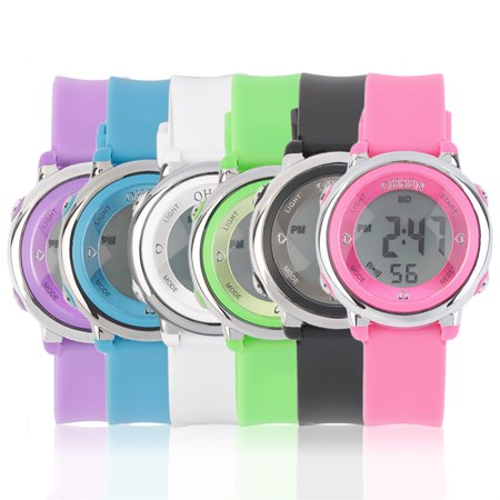 Fashion Women Girl Silicone Band Digital Led Wrist Watches Sport Watch
