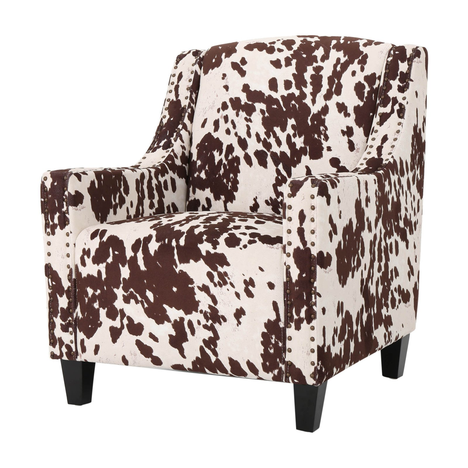 Elysabeth Studded Milk Cow Club Chair